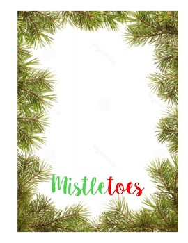Mistle-TOES Template FREEBIE