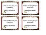 Mistletoe Gift Tag Freebie!