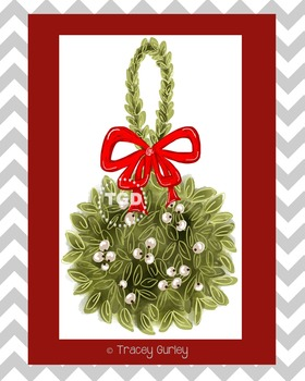 Mistletoe Illustration & Downloadable Print, Printable Tracey Gurley Designs