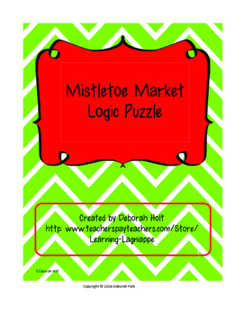 Mistletoe Market Logic Grid Puzzle Level III