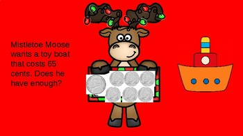 Mistletoe Moose Goes Shopping