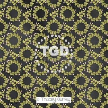 Mistletoe Wreath on Chalkboard digital paper Printable Tracey Gurley Designs
