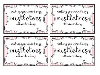 Mistletoes Christmas Gift Tag