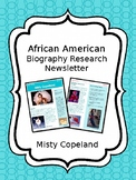 Misty Copeland Biography Newsletter