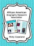 Misty Copeland Biography Newsletter