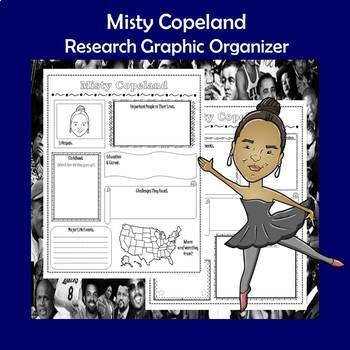 Misty Copeland Biography Research Graphic Organizer