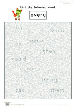 Misty Words (1st Grade)