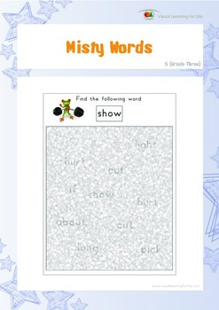 Misty Words (3rd Grade)