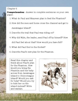 Misty of Chincoteague HORSES by Marguerite Henry STUDY GUIDE