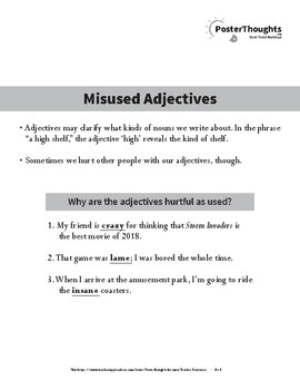Misused Adjectives - 2018