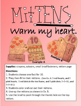 MitTENS Warm My Heart - Practice for Making 10