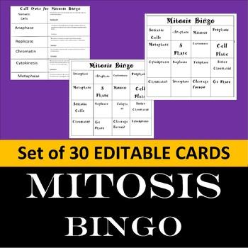 Mitosis Bingo