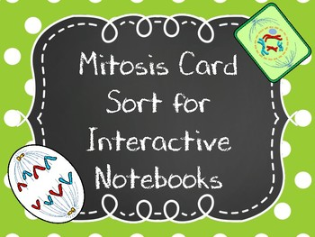 Mitosis Card Sort for Life Science Interactive Notebooks