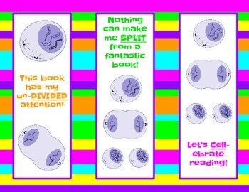 Mitosis Cell Division Bookmark FREEBIE!
