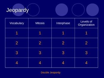Mitosis Jeopardy