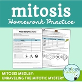 Cell Division Mitosis Practice- Homework or Classwork