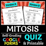 Mitosis Quiz - Two Versions {Editable}