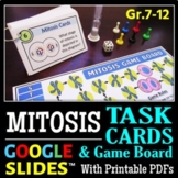 Mitosis Task Cards & Game Board   Printable, Google Slides for Distance Learning