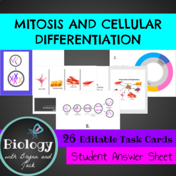 Mitosis and Cell Differentiation Task Cards