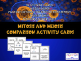 Mitosis and Meiosis Comparison Activity Cards