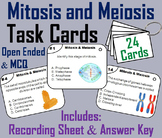 Mitosis and Meiosis Task Cards/ Cell Division Task Cards