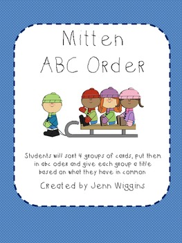 Mitten ABC Order Activity