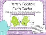 Mitten Addition Winter Math Center