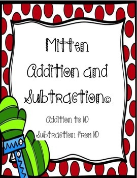 Mitten Addition and Subtraction Math