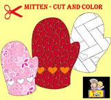 Mitten - Art Activity - Cut and Color