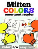Mitten Color Words: Emergent Reader