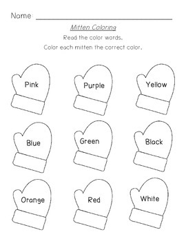 Mitten Coloring