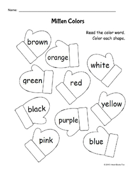 mittens coloring worksheets teaching resources tpt mittens coloring worksheets teaching