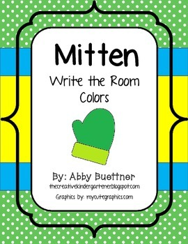 Mitten Colors Write the Room