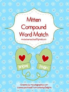 Mitten Compound Word Match