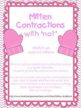 Mitten Contractions with 'not'