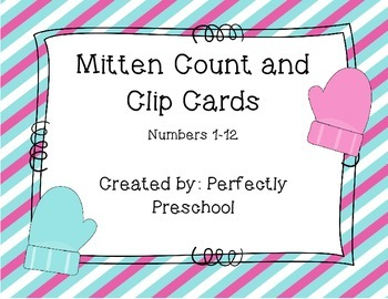 Mitten Count and Clip Cards