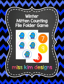 Mitten Counting File Folder Game for Special Education