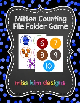 Mitten Counting File Folder Game for Early Childhood Speci