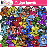 Emoji Mitten Clip Art {Winter Emoticons and Smiley Faces f