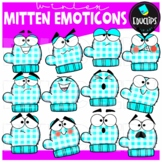 Mitten Emoticons Clip Art Set {Educlips clipart}