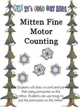 Mitten Fine Motor Counting Freebie