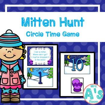 Mitten Hunt Circle Time Game