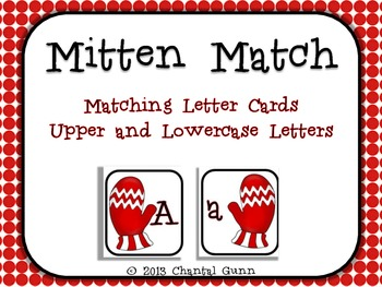 Mitten Letter Match (A-Z upper and lowercase)