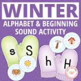 Winter Activities | Mitten Alphabet and Beginning Sound Matching Activity