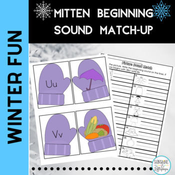 Phonics Letter Picture Sound Match-Up For Preschool Kindergarten
