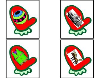 Mitten Madness - A phonemic awareness guessing game for rhymes