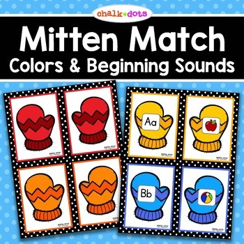 Mitten Match:  Colors and Beginning Sounds