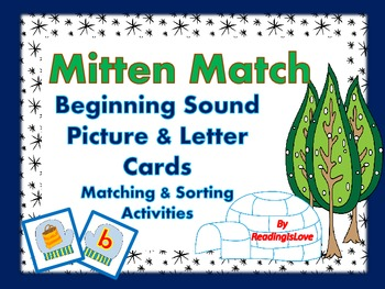 Mitten Match: Beginning Sound Picture and Letter Cards