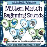 Alphabet - Beginning Sounds Mitten Match