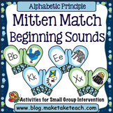 Alphabet - Beginning Sounds Mitten Match